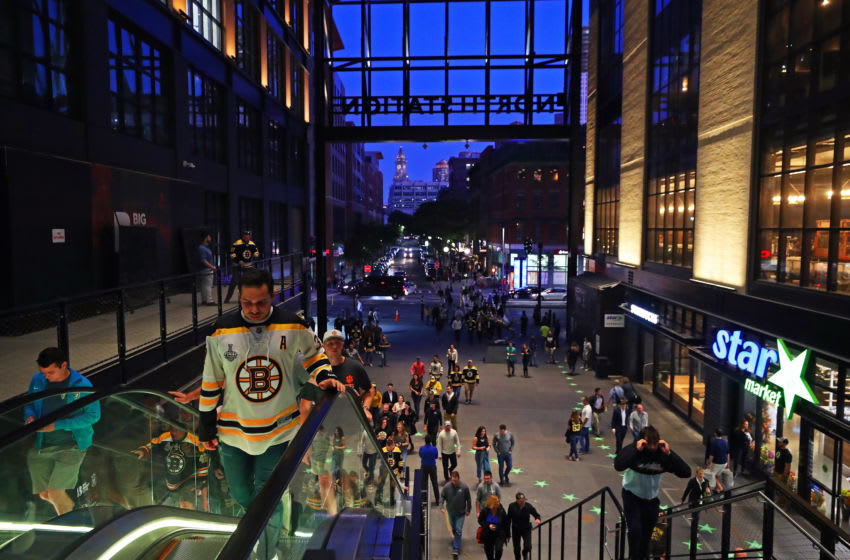 BOSTON, MASSACHUSETTS - SEPTEMBER 25: Fans enter TD Garden before the preseason game between the New Jersey Devils and the Boston Bruins at TD Garden on September 25, 2019 in Boston, Massachusetts. (Photo by Maddie Meyer/Getty Images)