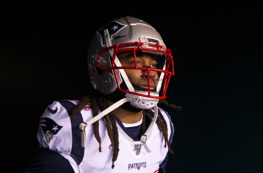 PHILADELPHIA, PA - NOVEMBER 17: Stephon Gilmore #24 of the New England Patriots walks onto the field prior to the game against the Philadelphia Eagles at Lincoln Financial Field on November 17, 2019 in Philadelphia, Pennsylvania. (Photo by Mitchell Leff/Getty Images)