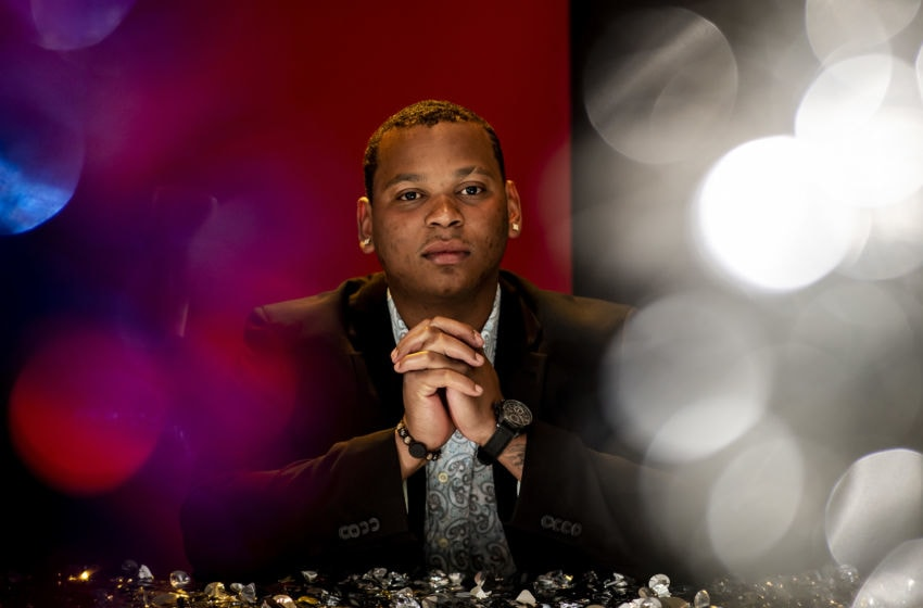 BOSTON, MA - JANUARY 16: Rafael Devers #11 of the Boston Red Sox poses for a portrait during the 2020 Boston Baseball Writers Dinner hosted by The Sports Museum on January 16, 2020 at the Seaport Hotel in Boston, Massachusetts. (Photo by Billie Weiss/Boston Red Sox/Getty Images)