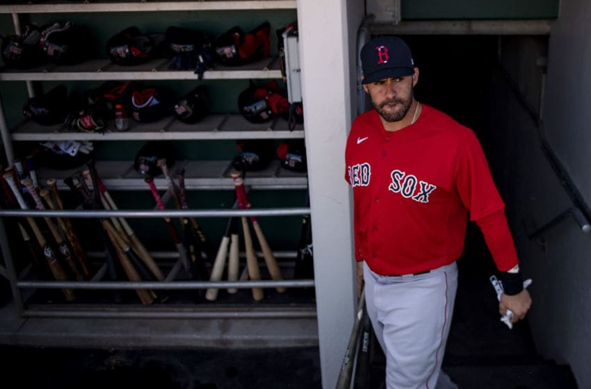 FT. MYERS, FL - FEBRUARY 28: J.D. Martinez #28 of the Boston Red Sox walks through the tunnel before a Grapefruit League game against the Minnesota Twins at CenturyLink Sports Complex on February 28, 2020 in Fort Myers, Florida. (Photo by Billie Weiss/Boston Red Sox/Getty Images)