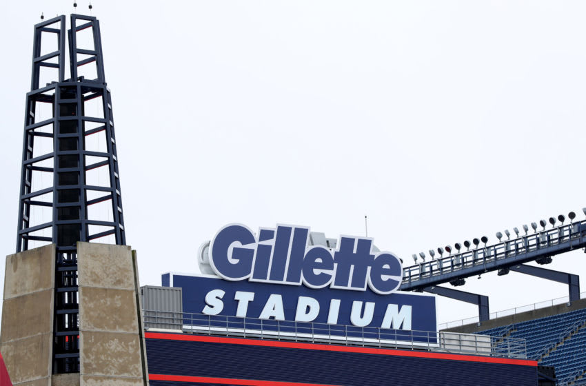 FOXBOROUGH, MASSACHUSETTS - MARCH 17: A view of Gillette Stadium, the home of the New England Patriots, on March 17, 2020 in Foxborough, Massachusetts. Quarterback Tom Brady announced he will leave the New England Patriots after 20 seasons with the team to enter free agency. (Photo by Maddie Meyer/Getty Images)