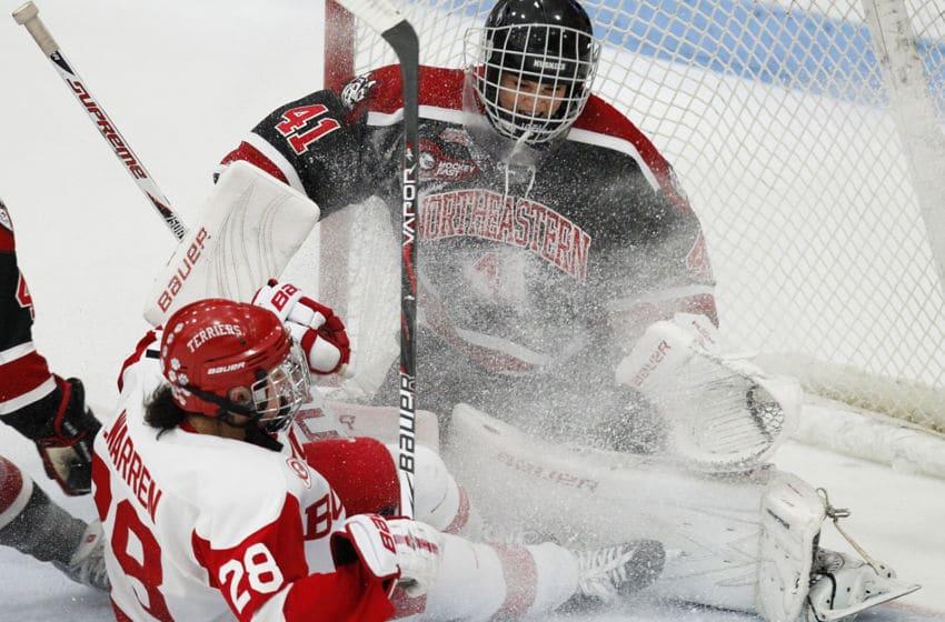 Boston University Women's Hockey (Photo by Yoon S. Byun/The Boston Globe via Getty Images)
