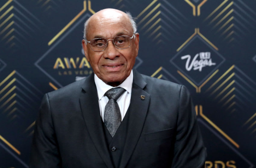 LAS VEGAS, NEVADA - JUNE 19: Willie O'Ree arrives at the 2019 NHL Awards at the Mandalay Bay Events Center on June 19, 2019 in Las Vegas, Nevada. (Photo by Bruce Bennett/Getty Images)