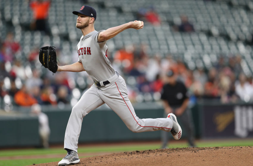 BALTIMORE, MARYLAND - MAY 08: Starting pitcher Chris Sale #41 of the Boston Red Sox pitches against the Baltimore Orioles at Oriole Park at Camden Yards on May 08, 2019 in Baltimore, Maryland. (Photo by Patrick Smith/Getty Images)