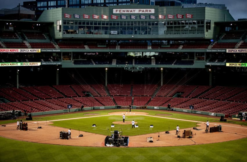 BOSTON, MA - MAY 29: A general view as the Dropkick Murphys perform during the Streaming Outta Fenway performance with no live audience as the Major League Baseball season is postponed due to the COVID-19 pandemic at Fenway Park on May 29, 2020 in Boston, Massachusetts. (Photo by Maddie Malhotra/Boston Red Sox/Getty Images)