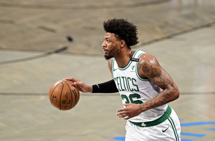 Marcus Smart #36 of the Boston Celtics (Photo by Steven Ryan/Getty Images)