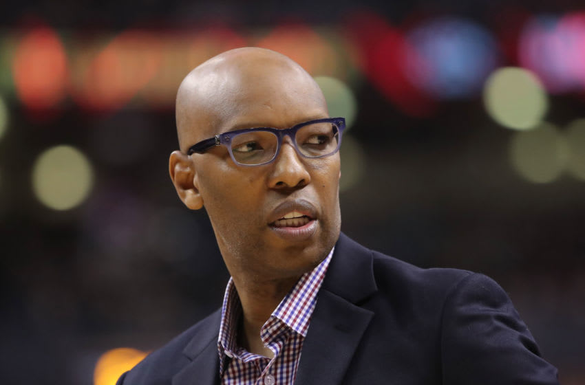 Feb 3, 2019; Toronto, Ontario, CAN; Los Angeles Clippers assistant coach Sam Cassell during the game against the Toronto Raptors at Scotiabank Arena. The Raptors beat the Clippers 121-103. Mandatory Credit: Tom Szczerbowski-USA TODAY Sports