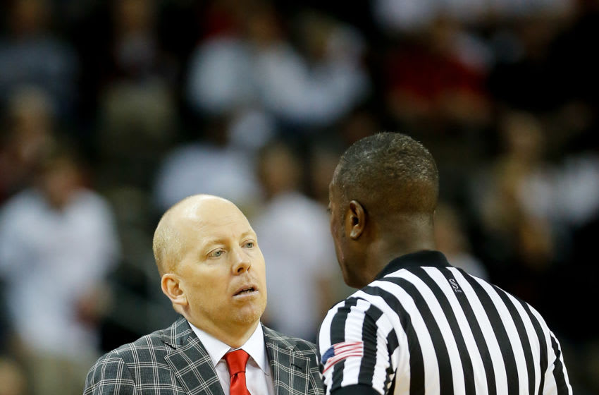 HIGHLAND HEIGHTS, KY - FEBRUARY 25: Head coach Mick Cronin of the Cincinnati Bearcats argues with a referee against the Tulsa Golden Hurricane at BB&T Arena on February 25, 2018 in Highland Heights, Kentucky. (Photo by Michael Reaves/Getty Images)