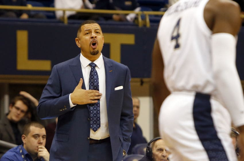 PITTSBURGH, PA - JANUARY 14: Head coach Jeff Capel III of the Pittsburgh Panthers coaches against the Florida State Seminoles at Petersen Events Center on January 14, 2019 in Pittsburgh, Pennsylvania. (Photo by Justin K. Aller/Getty Images)