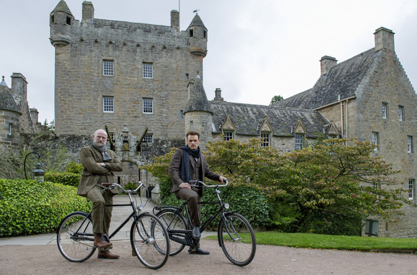 Men in Kilts -- Clanlands filming at Cawdor Castle with Sam Heughan and Graham McTavish -- Courtesy of Peter Sandground/STARZ