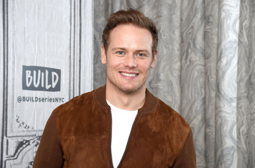 """NEW YORK, NEW YORK - FEBRUARY 11: Actor Sam Heughan visits the Build Series to discuss season 5 of the Starz series """"Outlander"""" at Build Studio on February 11, 2020 in New York City. (Photo by Gary Gershoff/Getty Images)"""