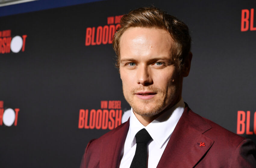LOS ANGELES, CALIFORNIA - MARCH 10: Sam Heughan attends the premiere of Sony Pictures'