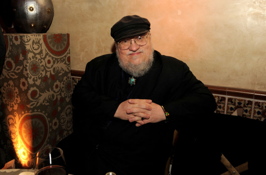LOS ANGELES, CA - MARCH 18: Author George R.R. Martin poses at the after party for the premiere of HBO's
