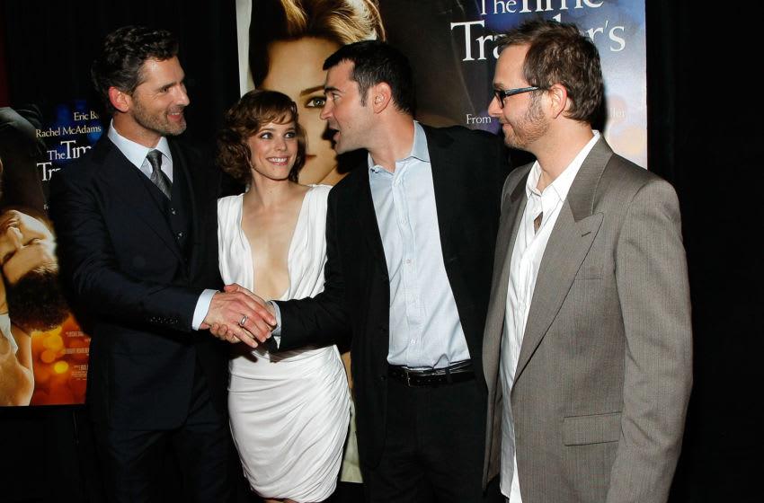 NEW YORK - AUGUST 12: (L-R) Actor Eric Bana, actress Rachel McAdams, actor Ron Livingston and director Robert Schwentke attend the premiere of