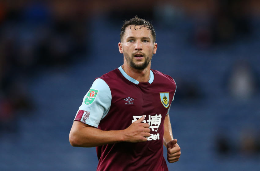 BURNLEY, ENGLAND - AUGUST 28: Danny Drinkwater of Burnley in action during the Carabao Cup Second Round match between Burnley and Sunderland at Turf Moor on August 28, 2019 in Burnley, England. (Photo by Jan Kruger/Getty Images)