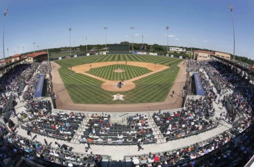 Mar 29, 2015; Kissimmee, FL, USA; A general view of the field from the roof of Osceola County Stadium during the sixth inning of a spring training baseball game between the Houston Astros and the New York Yankees. Mandatory Credit: Reinhold Matay-USA TODAY Sports