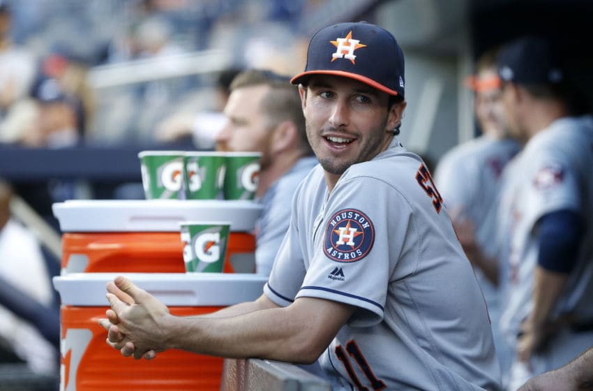 NEW YORK, NEW YORK - JUNE 20: Garrett Stubbs #11 of the Houston Astros before a game against the New York Yankees at Yankee Stadium on June 20, 2019 in New York City. The Yankees defeated the Astros 10-6. (Photo by Jim McIsaac/Getty Images)