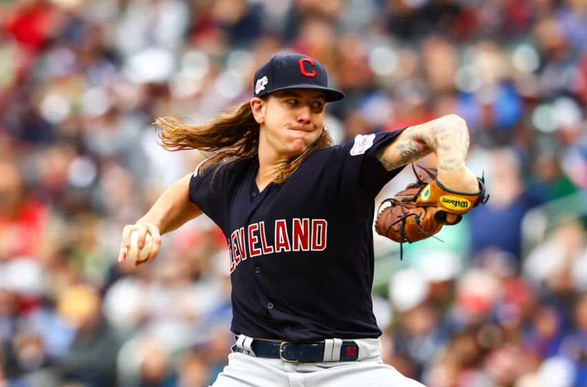 MINNEAPOLIS, MINNESOTA - SEPTEMBER 08: Mike Clevinger #52 of the Cleveland Indians delivers a pitch in the second inning against the Minnesota Twins during the game at Target Field on September 08, 2019 in Minneapolis, Minnesota. (Photo by David Berding/Getty Images)