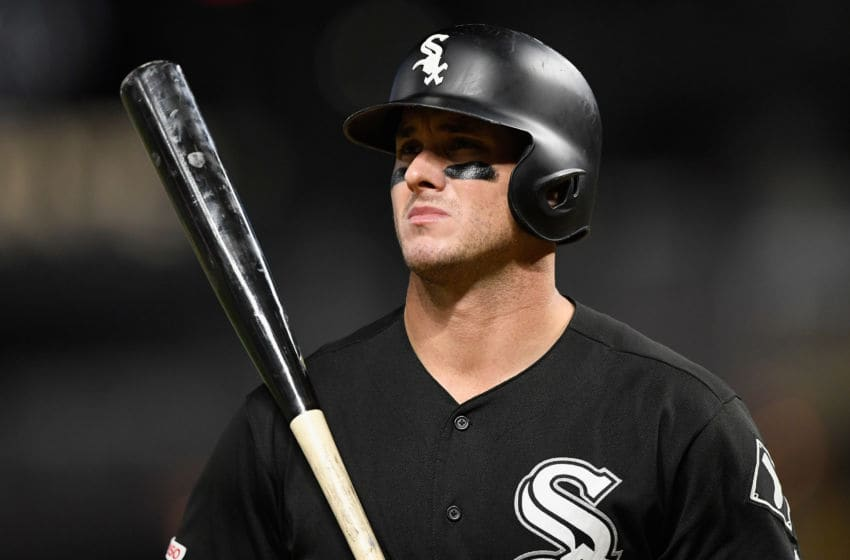 MINNEAPOLIS, MINNESOTA - SEPTEMBER 16: James McCann #33 of the Chicago White Sox reacts to striking out against the Minnesota Twins during the ninth inning of the game at Target Field on September 16, 2019 in Minneapolis, Minnesota. The Twins defeated the White Sox 5-3. (Photo by Hannah Foslien/Getty Images)