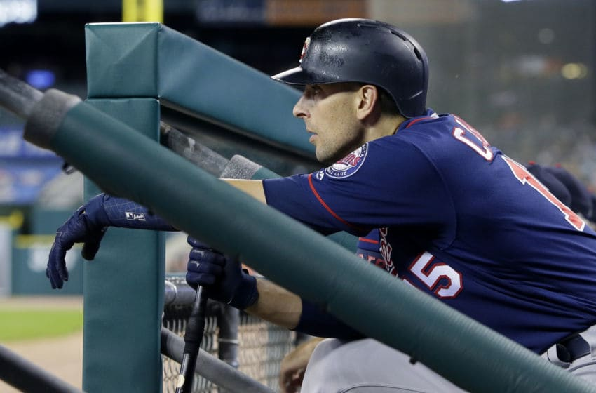 DETROIT, MI - SEPTEMBER 24: Jason Castro #15 of the Minnesota Twins waits to bat against the Detroit Tigers during the sixth inning at Comerica Park on September 24, 2019 in Detroit, Michigan. The Twins defeated the Tigers 4-2. (Photo by Duane Burleson/Getty Images)