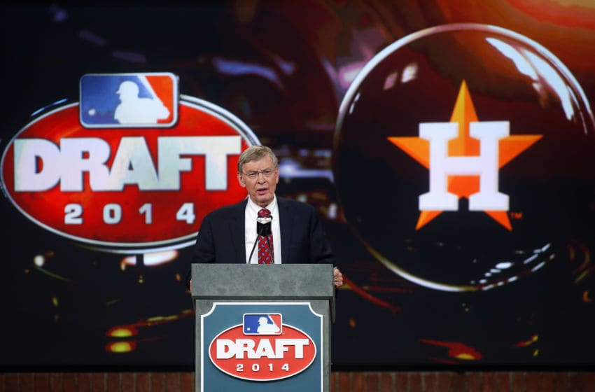 Houston Astros pick named at the 2014 MLB Draft (Photo by Rich Schultz/Getty Images)
