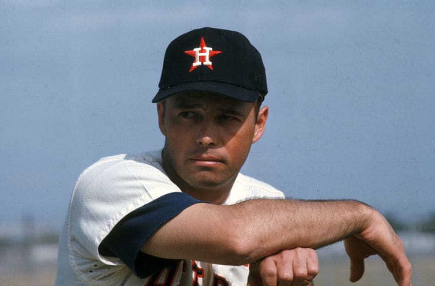 COCOA, FL - CIRCA 1967: Eddie Mathews #11 of the Houston Astros poses for this photo during Major League Baseball spring training circa 1967 in Cocoa, Florida. Mathews played for the Astros in 1967. (Photo by Focus on Sport/Getty Images)