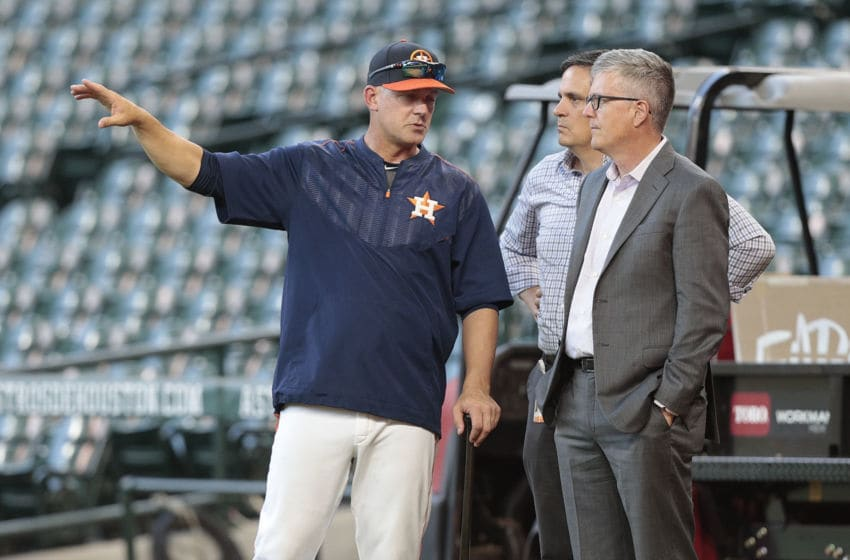 HOUSTON, TX - APRIL 04: Manager A.J. Hinch