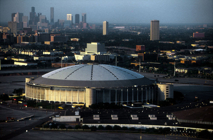 F367067 02: Seen here in this March 31, 2000 file photo is an aerial view of the Houston Astrodome, home to the hometeam the Astros. (Photo by Paul S. Howell)