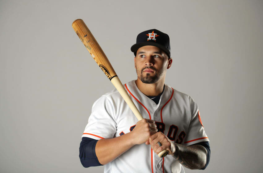 WEST PALM BEACH, FL - FEBRUARY 21: Nick Tanielu #81 of the Houston Astros poses for a portrait at The Ballpark of the Palm Beaches on February 21, 2018 in West Palm Beach, Florida. (Photo by Streeter Lecka/Getty Images)