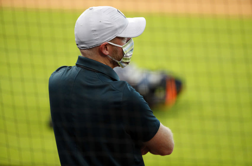 HOUSTON, TEXAS - JULY 04: General manager James Click of the Houston Astros during day 2 of Summer Workouts at Minute Maid Park on July 04, 2020 in Houston, Texas. (Photo by Bob Levey/Getty Images)