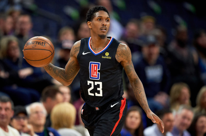 MINNEAPOLIS, MN - FEBRUARY 11: Lou Williams #23 of the Los Angeles Clippers dribbles the ball against the Minnesota Timberwolves during the game on February 11, 2019 at the Target Center in Minneapolis, Minnesota. NOTE TO USER: User expressly acknowledges and agrees that, by downloading and or using this Photograph, user is consenting to the terms and conditions of the Getty Images License Agreement. (Photo by Hannah Foslien/Getty Images)