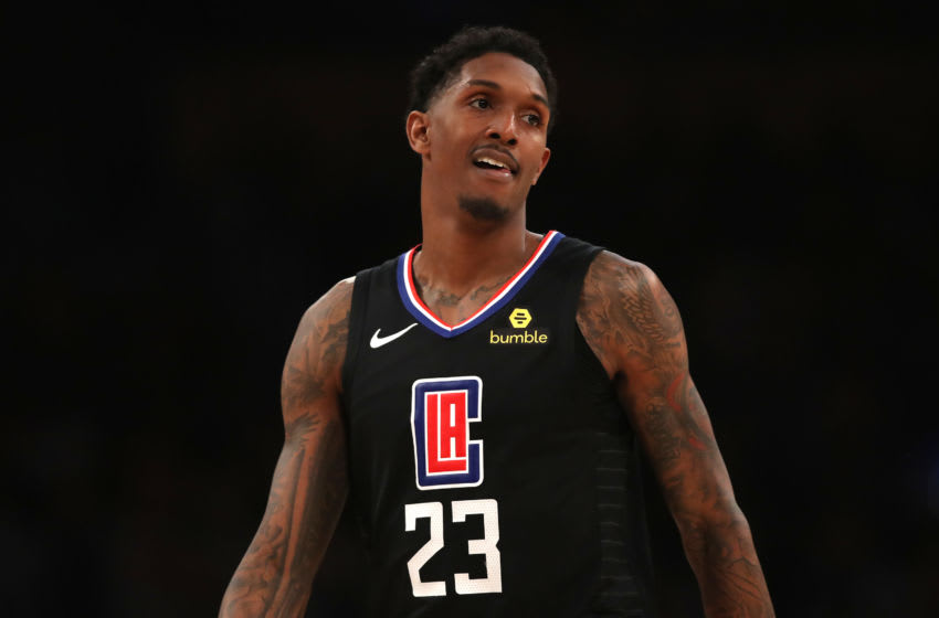 LOS ANGELES, CALIFORNIA - MARCH 04: Lou Williams #23 of the Los Angeles Clippers looks on during the first half of a game against the Los Angeles Lakersat Staples Center on March 04, 2019 in Los Angeles, California. (Photo by Sean M. Haffey/Getty Images)