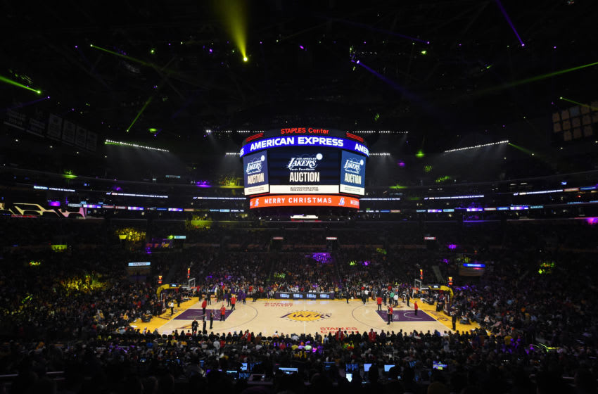 LOS ANGELES, CA - DECEMBER 25: A overview shot of the game between the Los Angeles Lakers and LA Clippers on December 25, 2019 at STAPLES Center in Los Angeles, California. NOTE TO USER: User expressly acknowledges and agrees that, by downloading and/or using this Photograph, user is consenting to the terms and conditions of the Getty Images License Agreement. Mandatory Copyright Notice: Copyright 2019 NBAE (Photo by Juan Ocampo/NBAE via Getty Images)