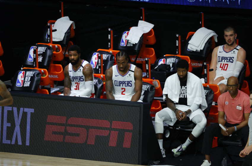 Kawhi Leonard, Paul George, Marcus Morris, LA Clippers (Photo by Kevin C. Cox/Getty Images)