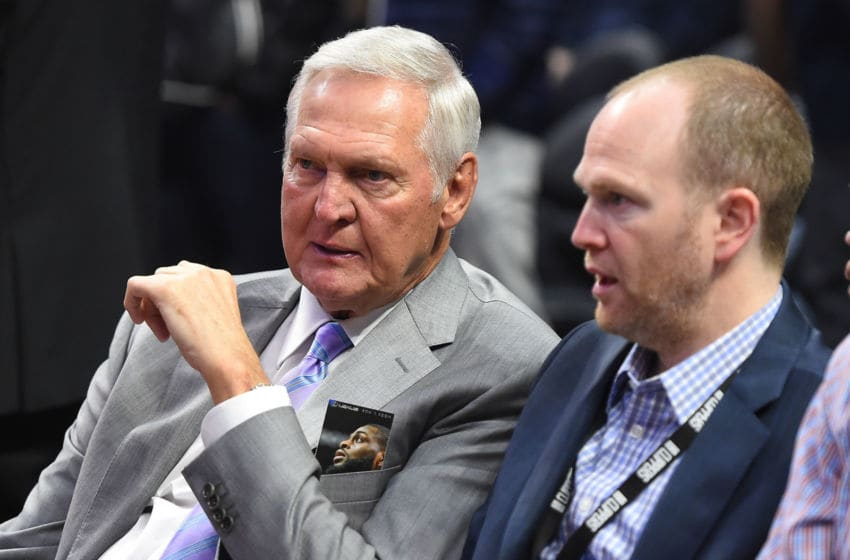 LA Clippers Jerry West and Lawrence Frank (Photo by Jayne Kamin-Oncea/Getty Images)