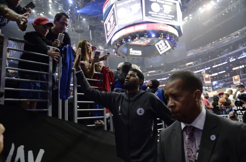 Paul George, LA Clippers fans (Photo by Kevork Djansezian/Getty Images)