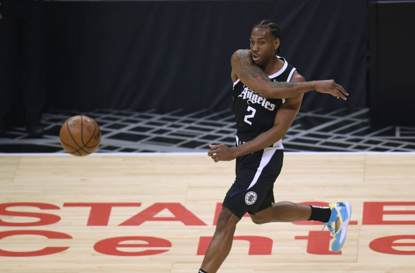 Kawhi Leonard, LA Clippers. NOTE TO USER: User expressly acknowledges and agrees that, by downloading and or using this photograph, User is consenting to the terms and conditions of the Getty Images License Agreement. (Photo by Harry How/Getty Images)