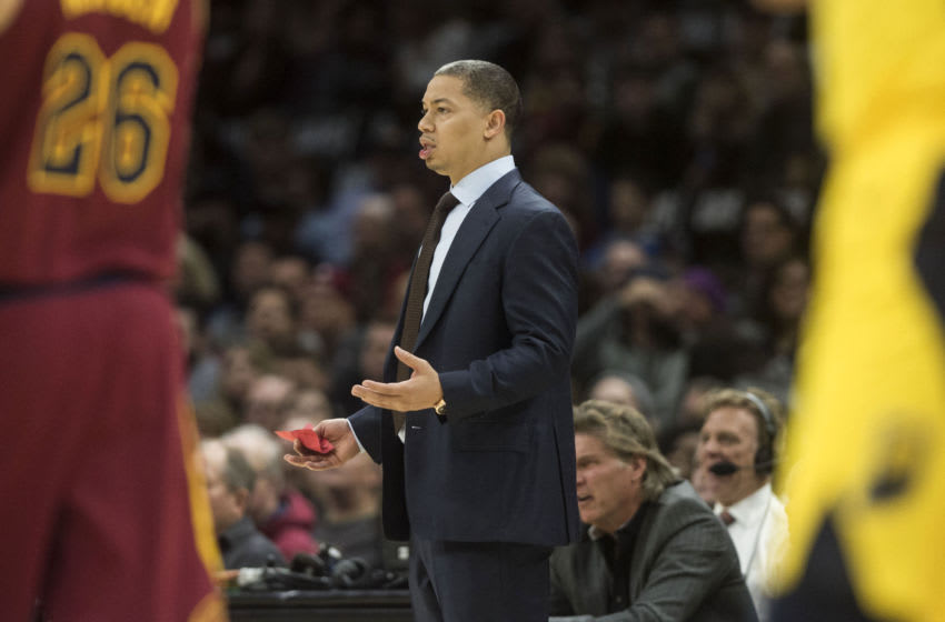 Tyronn Lue. Mandatory Credit: Ken Blaze-USA TODAY Sports