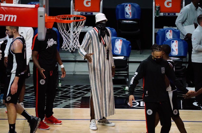 Serge Ibaka, LA Clippers. Mandatory Credit: Gary A. Vasquez-USA TODAY Sports
