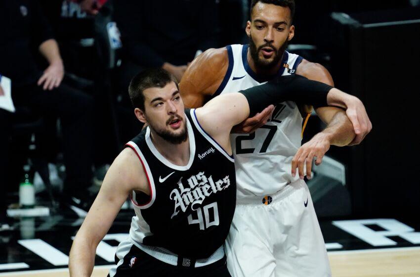 Ivica Zubac, LA Clippers. Mandatory Credit: Robert Hanashiro-USA TODAY Sports