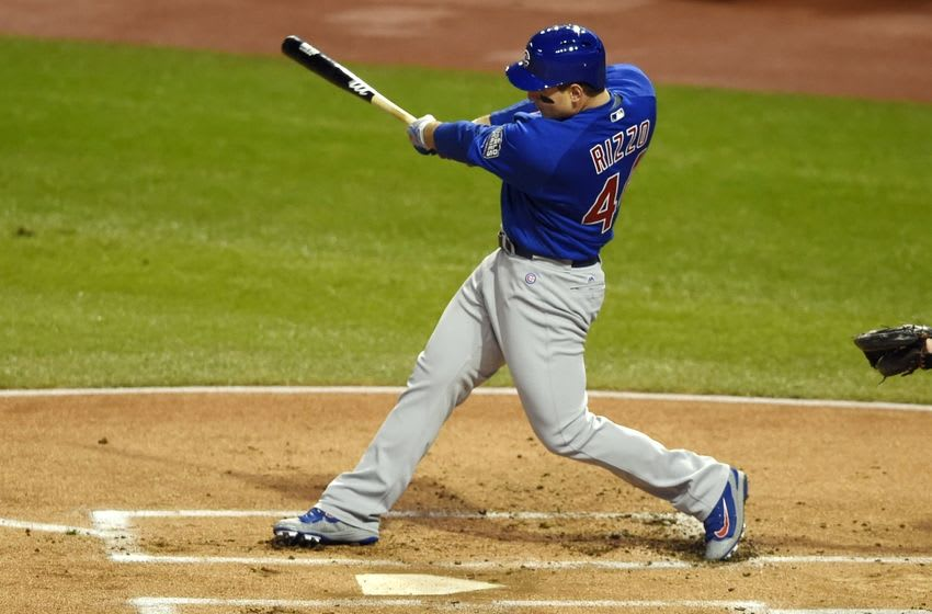 Chicago Cubs first baseman Anthony Rizzo - Credit: Tommy Gilligan-USA TODAY Sports