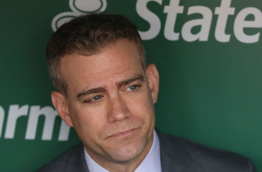 Cubs president of baseball operations Theo Epstein could be on the move. (Photo by Jonathan Daniel/Getty Images)