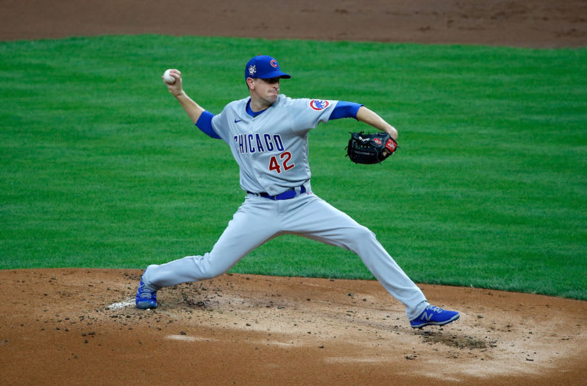 Cubs right-hander Kyle Hendricks struggled again in Cincinnati on Friday. (Photo by Kirk Irwin/Getty Images)