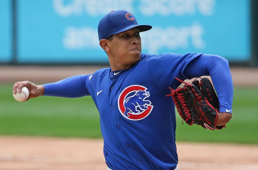 Adbert Alzolay looks like he's ready to join the Cubs rotation. (Photo by Jonathan Daniel/Getty Images)
