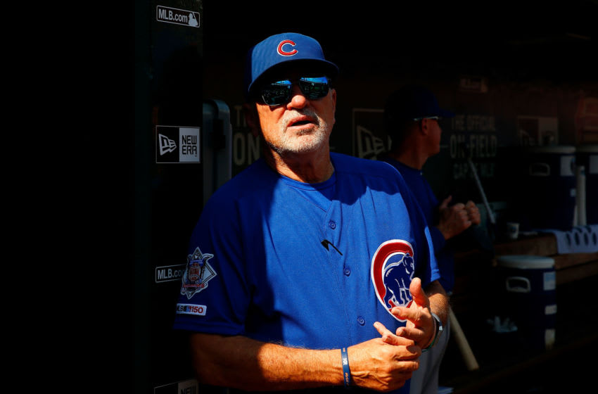 Joe Maddon, Chicago Cubs (Photo by Dilip Vishwanat/Getty Images)