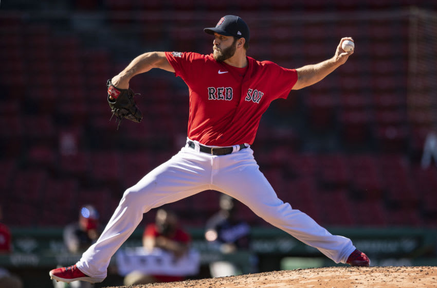 Left-hander Josh Osich delivers a pitch in a game earlier this year. (Photo by Billie Weiss/Boston Red Sox/Getty Images)