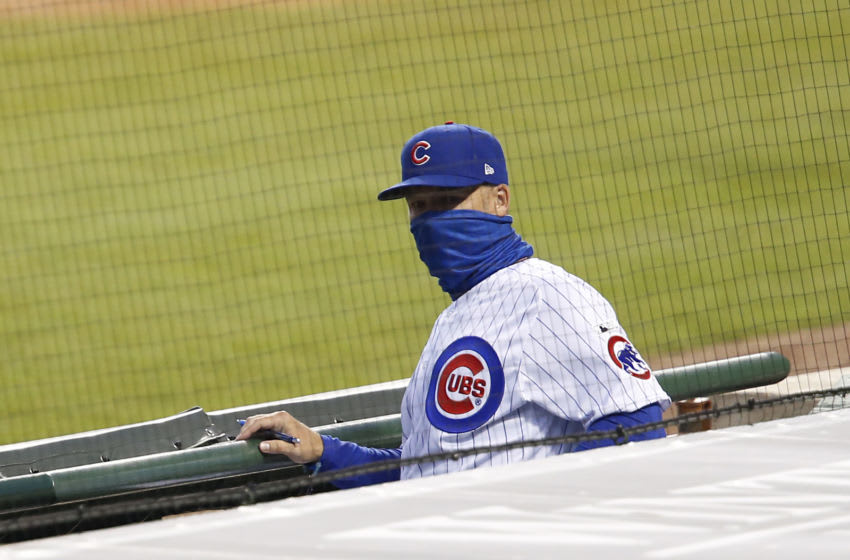 Cubs manager David Ross looks on from the dugout. (Photo by Justin Casterline/Getty Images)