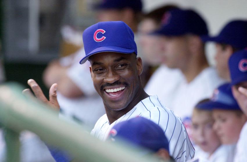 Fred McGriff, Chicago Cubs DIGITAL IMAGE. Mandatory Credit: Jonathan Daniel/Allsport