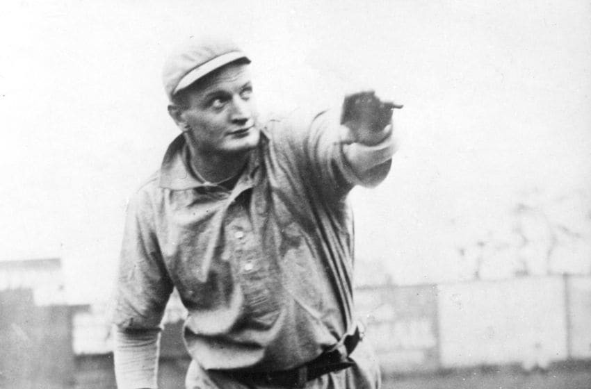 PHILADELPHIA - 1905. Ace left handed pitcher Rube Waddell of the Philadelphia Athletics works out before a game in Philly in 1905. (Photo by Mark Rucker/Transcendental Graphics, Getty Images)
