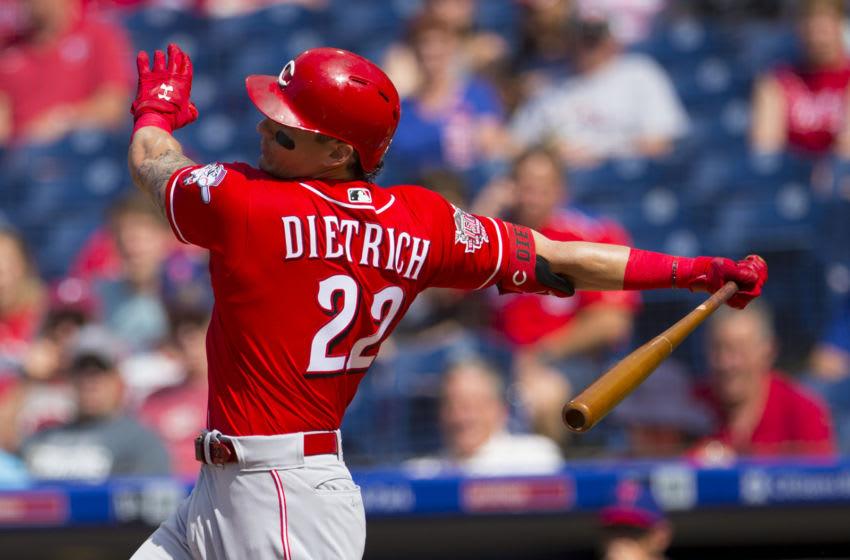 Derek Dietrich (Photo by Mitchell Leff/Getty Images)
